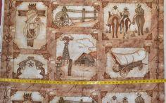 Western Album Denim & Dirt #7097 cowboy,horses,covered wagon,windmill scenry.BTY #BlankQuilting