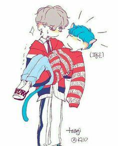 Yoonkook, Namjin, vhopemin etc etc etc - 🐯 TaeGi 🐱 - Wattpad Bts Suga, Bts Bangtan Boy, Tsundere, Namjin, Fanart Bts, Dibujos Cute, Bts And Exo, Bts Drawings, Yoongi