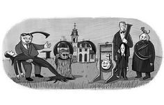Charles Addams's characters feature in a Google Doodle to commemorate the centenary of the cartoonist. The Google Doodle for Addams was done courtesy of the Tee & Charles Addams Foundation.