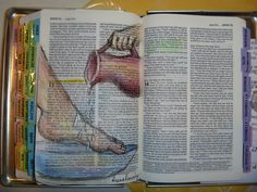 I have been sketching in my Bible. For special prayers, I sketch a person directly onto the scripture I am praying. This is new for me, but ...