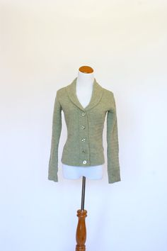 Vintage Cardigan Sweater Green Wool Sweater by pinebrookvintage, $32.00 NEW!!! Vintage Sage Green Cardigan Sweater by Carol Little. So cozy for fall!