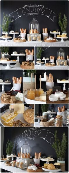 Brunch party decorations buffet tables inspiration food displays Ideas for 2019 Deco Buffet, Breakfast And Brunch, Champagne Breakfast, Champagne Party, Wedding Breakfast, Brunch Wedding, Wine And Cheese Party, Food Stations, Snacks Für Party