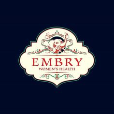 Vintage logo / Embry Women's Health.  #typography #typographyinspired #graphicdesign #design #freelance #graphic #inspiration #handlettering #classic #vintage #color #nature #cute #branding #logo#drawing #company #draw #designspiration #illustration #support #art #artist #woman #designer #world #feminism #healthy #summer #yudosajiwo