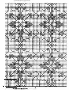 This Pin was discovered by Νέν Filet Crochet Charts, Knitting Charts, Crochet Motif, Knitting Stitches, Embroidery Stitches, Embroidery Patterns, Hand Embroidery, Knitting Patterns, Crochet Patterns