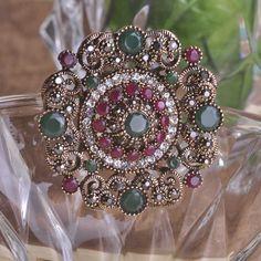 Auspicious New Year hijab Brooch Pin Up CZ Zircon Crystal joias turco Delicate Gifts Broches alfileres de boda Floating Locket