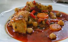 SPICY  MOROCCAN  FISH - Yummy !!! Add to it a Sabbath challah, dipped in a spicy…