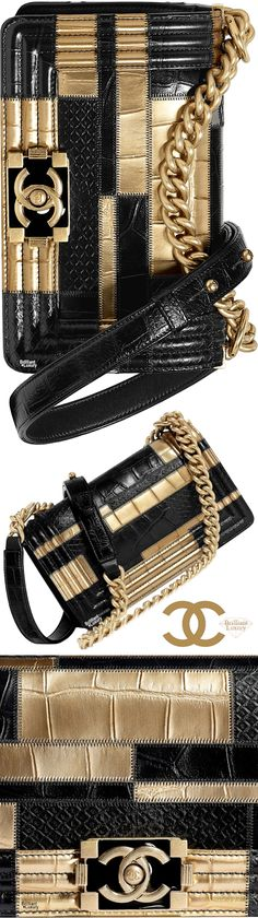 New Chanel Bags, Chanel Boy, Fall Handbags, Chanel Handbags, Buy Bags, Gold Fashion, Shades Of Black, Gold Bags, Winter Collection