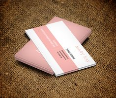 Business Card Independent Beauty Consultant - Mary Kay by Martin Majling, via Behance I need to figure out how to make these!