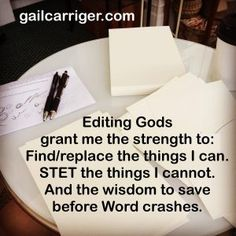 What Does A Copy Edit Pass Looks Like? Gail's Internal Dialogue - Gail Carriger