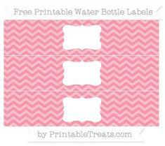 free pastel pink chevron water bottle labels free frames pastel pink printable water bottle