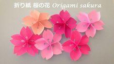 折り紙 桜の花 作り方(niceno1)Origami Flower Cherry blossoms tutorial - YouTube