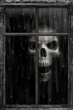 Skull Art by Anne Stokes Anne Stokes, Dark Gothic, Gothic Art, Arte Horror, Horror Art, Dark Fantasy, Fantasy Art, Skull Pictures, Dark Pictures