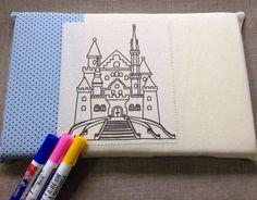 Mini almofada pintar e criar - Castelo Encantado [kit]