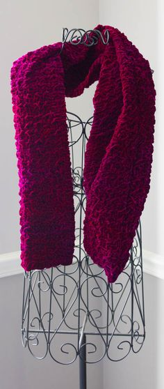 Textured Silk Velvet Scarf-finished scarf