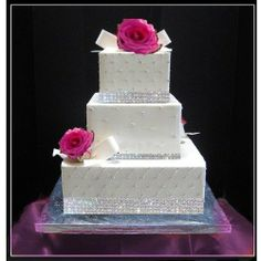diamonds and pearls themed weddings | Bling up your jewelry wedding cake theme with rhinestones.