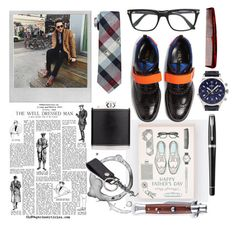 """Father's day"" by mydreamingcloset ❤ liked on Polyvore featuring Berylune, Prada, Cufflinks, Inc., Baxter of California, Balmer, Aspinal of London, Tom Ford, Parker, Polaroid and Yves Saint Laurent"