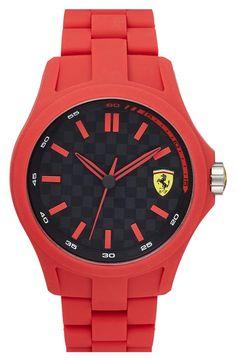 Red hot 'Pit Crew' silicone bracelet watch | Scuderia Ferrari.