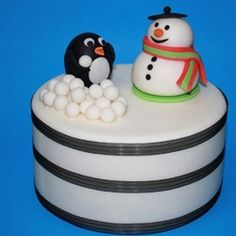 snowman and pinguin pie, cuteeee