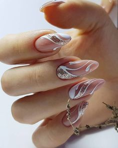 The Best Wedding Nails 2021 Trends ❤ #weddingforward #wedding #bride #weddingnailstrends #weddingnails Mani Pedi, Manicure And Pedicure, How To Do Nails, Fun Nails, Sophisticated Nails, Glitter Manicure, Simple Nail Designs, Nail Trends, Wedding Nails