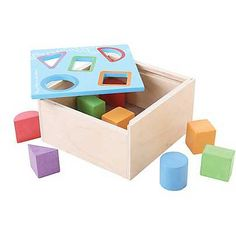 Provide educational entertainment to a little one with this posting box that helps develop dexterity and coordination. Includes box and eight blocksBox: W x HWoodRecommended for ages 1 year and upImported Apartment Balcony Decorating, Baby Needs, Soft Fabrics, Little Ones, Invitations, Entertaining, Education, Toys, Gifts