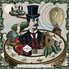 Meet the delightfully curious Hendrick's Gin. Life is too glorious not to experience its peculiar flavour, infused with rose & cucumber in our Scottish distillery. Monty Python, Art Cabinet, Steampunk, Dark Energy, Poster Layout, Comic Panels, Blog Images, Retro Art, Funny Stories