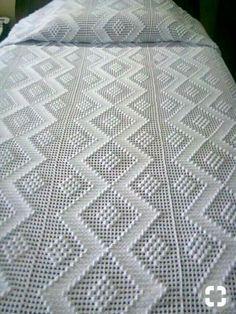 Love Crochet, Beautiful Crochet, Diy Crochet, Vintage Crochet, Hand Crochet, Crochet Baby, Crochet Bedspread Pattern, Crochet Blanket Patterns, Crochet Stitches