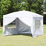 Best Seller Canopy White Pop Up Canopy Outdoor Gazebo Portable Shade Instant Tent Commercial Tent Portable Market Stall With 3 Sidewalls And carry Bag Party Wedding Activity BBQ Beach Car Shelter online - Theeasytopbuy Pop Up Canopy Tent, Gazebo Canopy, Backyard Canopy, Patio Gazebo, Canopy Outdoor, Beach Canopy, Canopies, Outside Canopy, Carport Canopy