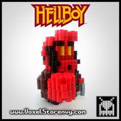 Hellboy Red 3D Voxel Perlerbead (Hellboy) - Thumbnail 2