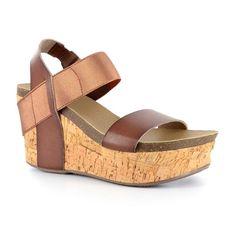 Corkys Wedge Women's Wedge Sandals, Size: 6, Dark Brown