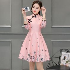 cfcceb154 Image result for jedi mandarin collar Kimono Chino, Chinese Dresses, Chinese  Clothing, Pink