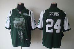 Jets #24 Darrelle Revis Green Nike NFL Jersey  ID:9747