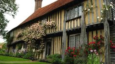 Smallhythe Place, Kent. Famous Victorian & Edwardian actress Ellen Terry's early 16th-century house and cottage gardens