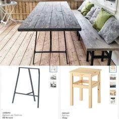 """94 gilla-markeringar, 13 kommentarer - Susanne Gustafsson, 29 (@smastadsidyll) på Instagram: """"Kom ju på att jag hade fått frågor om hur vi gjorde utemöblerna... Lånade bilder från Ikea för…"""""""