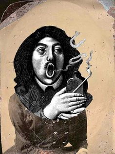 Smoke Rings.  Digital collage © Terry Castle, 2014.
