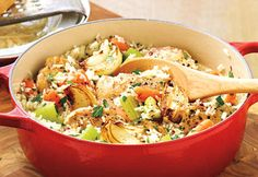 You can try this Inspired Chicken with Jasmine Rice recipe in the New RockCroc by Pampered Chef. Easy clean up!