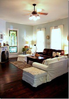 Having small living room can be one of all your problem about decoration home. To solve that, you will create the illusion of a larger space and painting your small living room with bright colors c… Floor Colors, House Colors, Sea Salt Sherwin Williams, Room Additions, Living Room Remodel, Room Tour, Inspired Homes, Home And Living, Living Spaces