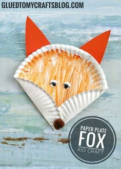 Dr Seuss Inspired – Paper Plate Fox {Kid Craft} - Fall Crafts For Toddlers Paper Plate Art, Paper Plate Crafts, Paper Plates, Paper Plate Animals, Craft Activities For Kids, Preschool Crafts, Crafts For Kids, Arts And Crafts, Children Crafts