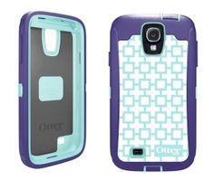 Forms&Blue Tri-Proof Otterbox CuteFigure Defender Case Cover For Samsung Galaxy S4 IV i9500 i9502 i9505 i545 i337 M919 L720 R970
