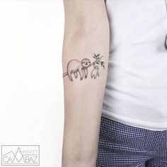 Cute Small Tattoos Simple Tattoos Illustration Ahmet Cambaz inspired by illustration and cartoons. Mini Tattoos, Wörter Tattoos, Little Tattoos, Word Tattoos, Body Art Tattoos, Fashion Tattoos, Cute Animal Tattoos, Cute Small Tattoos, Tattoos For Women Small