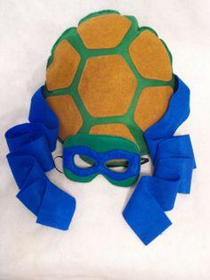 TMNT grandes Shell y máscara Set por CapesNCrowns en Etsy