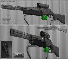 Concept of sci-fi gun with revolver profile. It isenergy based weapon. no bullets. Back part is familiar. Front part I re-desinged completely. Appereance I did in clean metalic look this time...