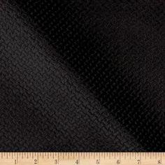Jacquard Velvet Basketweave Black 9.62/yd