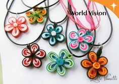 Quilled Necklace Charity Proceeds To Charity by quillivanilli