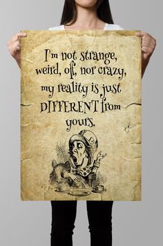 Alice in Wonderland printable Alice in by QuotesandProse on Etsy