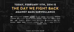 Thousands of websites are planning a massive online protest against surveillance on February 11th. #NSA