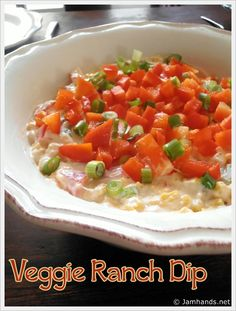 Veggie Ranch Dip at www.JamHands.net