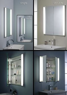 Concealed Mirror Cabinet In Stud Wall. Love this but my challenge ...