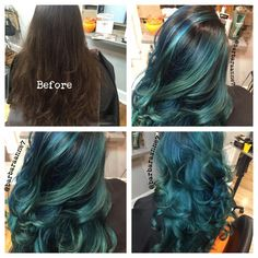 THE WOW FACTOR: Virgin To Dimensional Teal | Modern Salon