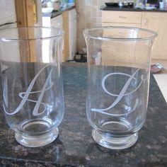 Glassware and Mirror Personalized Designs