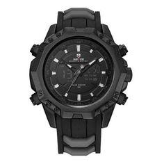 #AdoreWe #GearBest - #Gearbest WEIDE Men Sport Analog Quartz Movement Digital Display Day Back Light Alarm Black Auto Date Wristwatch - AdoreWe.com